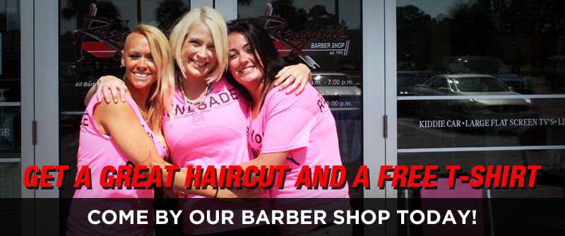 Get a great haircut, and a free tshirt!