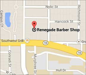 Renegade Barber Shop Main Office Map