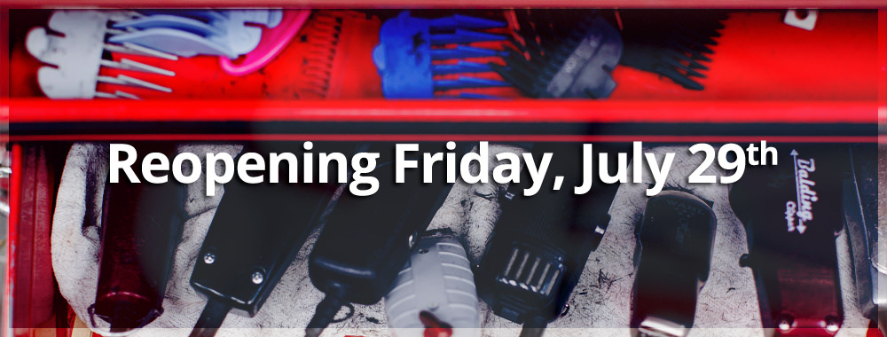Renegade Barber Shop is reopening on Friday, July 29th