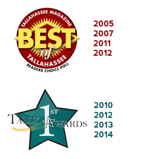 Best Of Tallahassee Award & Tally Awards Received