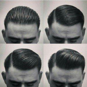 Slick Back Mens Hair